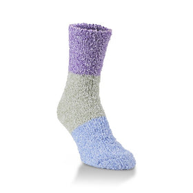 Women's Worlds Softest Socks Peacock Fuzzy Colorblock