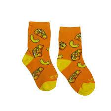Kid's Mac n' Cheese socks - Novelty Socks, Mens, Womens, Kids