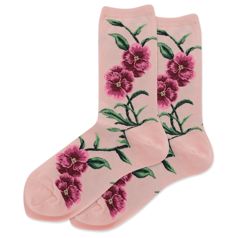 Women's Pansy Flowers Socks - Novelty Socks, Mens, Womens, Kids