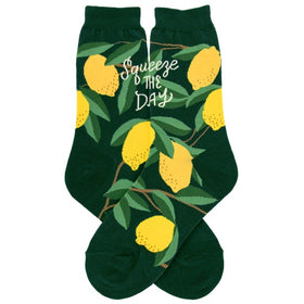 "Women's Lemon ""Squeeze The Day"" Socks"