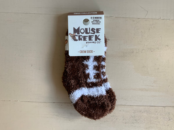Kid's Fuzzy Baby Grip Socks - Moose Creek - Jilly's Socks 'n Such