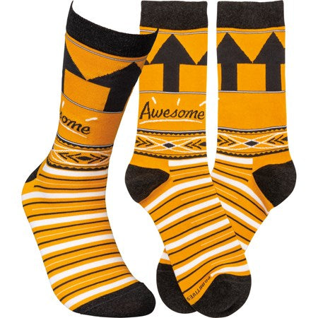 """Awesome"" Socks - One Size - Jilly's Socks 'n Such"