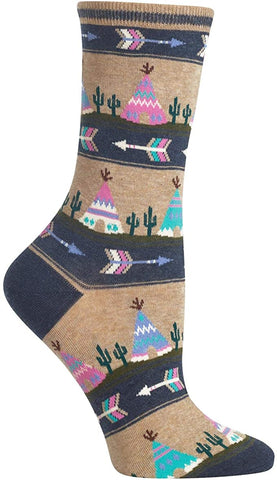 Women's Tee Pee Tribal Socks - Novelty Socks, Mens, Womens, Kids
