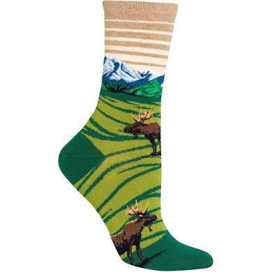 Women's Moose & Mountains Socks - Novelty Socks, Mens, Womens, Kids
