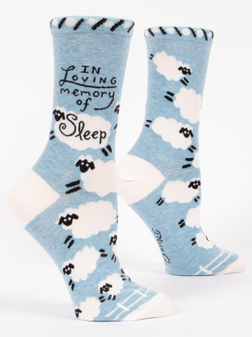 "Women's ""In Loving Memory Of Sleep"" Socks - Novelty Socks, Mens, Womens, Kids"