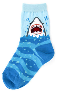 "Kid's Shark ""Bite Me!"" Socks - Novelty Socks, Mens, Womens, Kids"