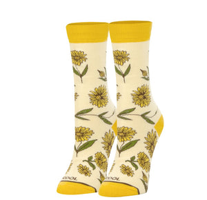 Women's Sunflower Socks - Novelty Socks, Mens, Womens, Kids
