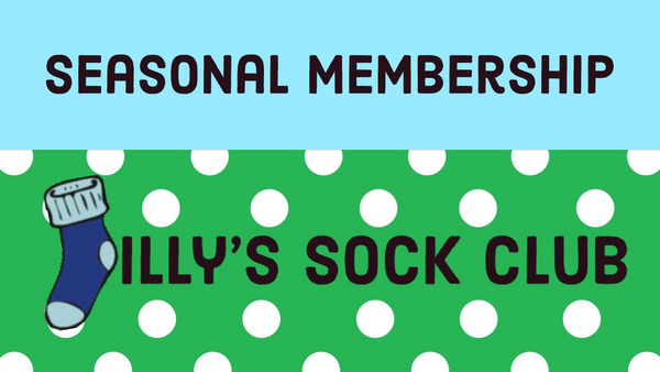 Jilly's Sock Club Subscription-  Seasonal (4 Month) Subscription - Jilly's Socks 'n Such