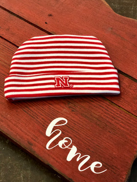 Kids Baby Nebraska Striped Cap