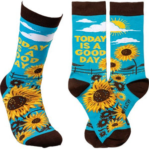 """Today is a Good Day"" Socks - One Size - Novelty Socks, Mens, Womens, Kids"
