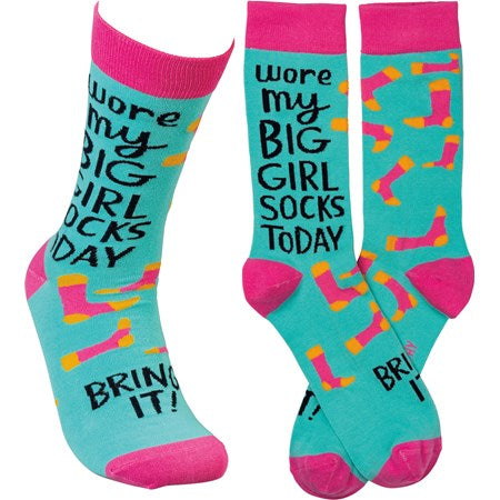 """I Wore My Big Girl Socks Today"" Socks - One Size - Jilly's Socks 'n Such"