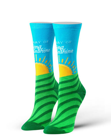 "Women's ""Ray of Sunshine"" Socks - Novelty Socks, Mens, Womens, Kids"
