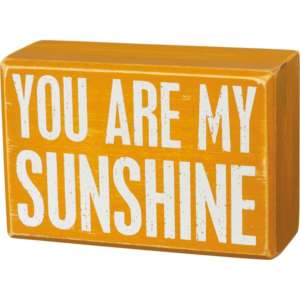 """You Are My Sunshine"" - Box Sign and Sock Set - Novelty Socks, Mens, Womens, Kids"