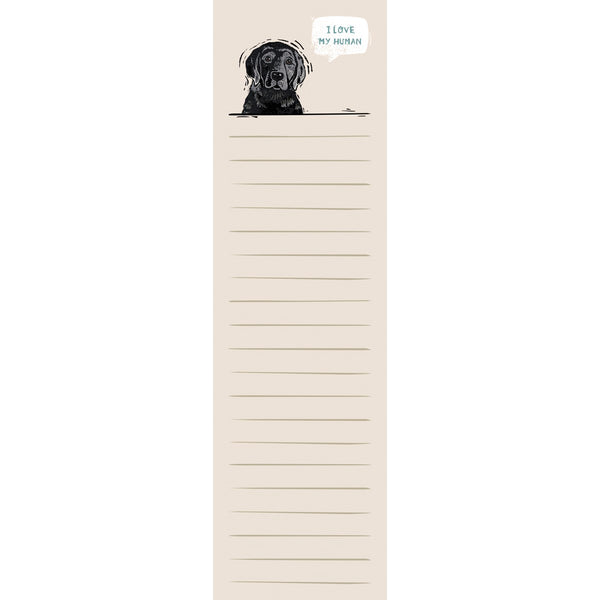 "Black Lab ""I Love My Human"" List Notepad Tablet - Novelty Socks, Mens, Womens, Kids"