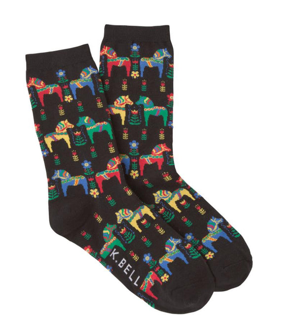 Women's Swedish Horse Socks - Novelty Socks, Mens, Womens, Kids