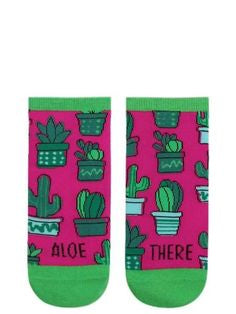"Women's Ankle ""Aloe There"" Socks - Jilly's Socks 'n Such"