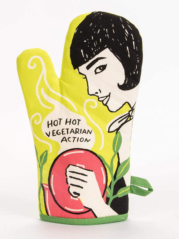 Hot Hot Vegetarian Action Oven Mitt - Jilly's Socks 'n Such