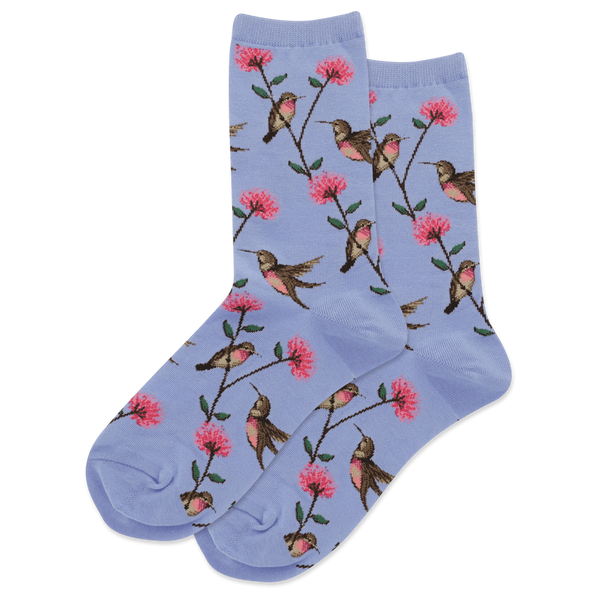 Women's Hummingbird Socks -Multiple Colors - Jilly's Socks 'n Such