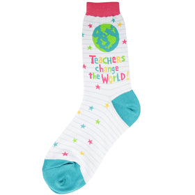 Women's Teachers Change the World Socks