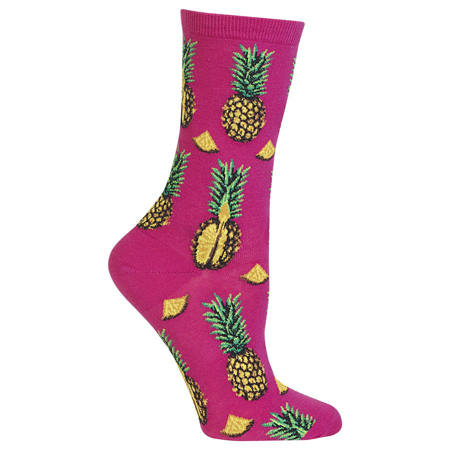 Women's Pineapple Pink Socks - Novelty Socks, Mens, Womens, Kids