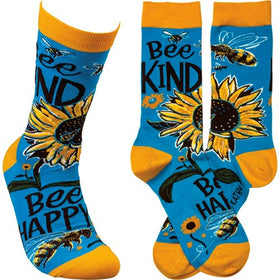 """Bee Kind"" Socks - One Size"