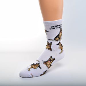 German Shepard Socks - One Size - Novelty Socks, Mens, Womens, Kids