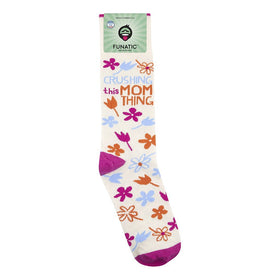 """Crushing This Mom Thing"" Socks - One Size"