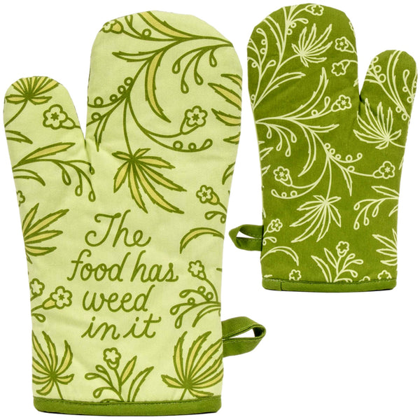 This Food Has Weed Oven Mitt - Jilly's Socks 'n Such