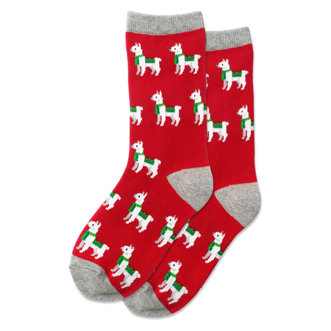 Kid's Christmas Llama Socks - Novelty Socks, Mens, Womens, Kids