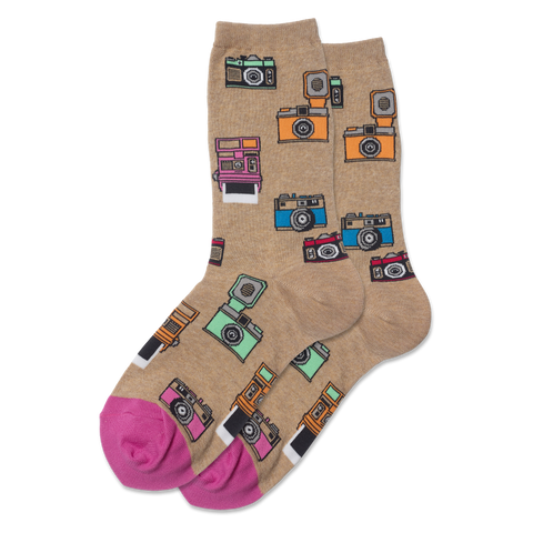 Women's Vintage Camera Socks - Novelty Socks, Mens, Womens, Kids