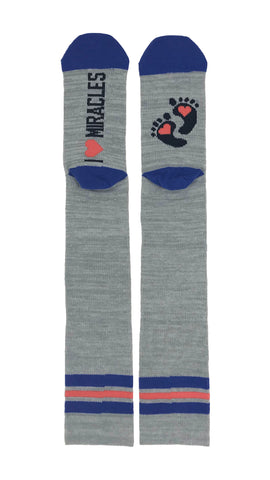 Compression- I love Miracles - Novelty Socks, Mens, Womens, Kids