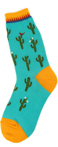 Women's Cactus Desert turquoise Socks - Jilly's Socks 'n Such