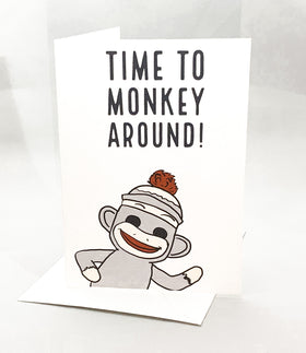 """Time to Monkey Around!"" Jilly's Cards Birthday Card"