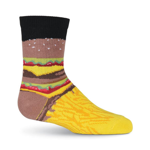Kids-Burger and Fries Socks - Novelty Socks, Mens, Womens, Kids