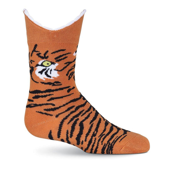 Kids-3D Tiger Socks - Jilly's Socks 'n Such
