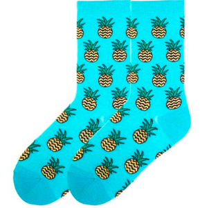 Women's Pineapples Socks - Novelty Socks, Mens, Womens, Kids