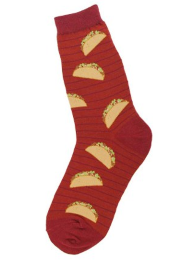Women's Red Taco Tuesday Socks - Jilly's Socks 'n Such