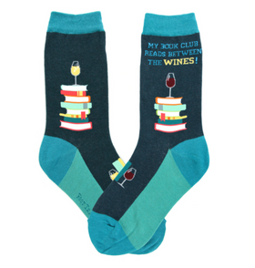 "Women's ""My Book Club Reads Between the Wines"" Socks"