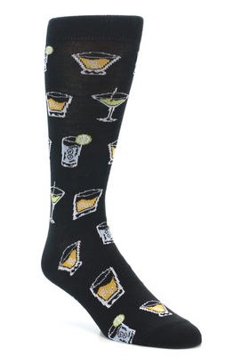 Mens Cocktail (Hey Bartender!) Socks