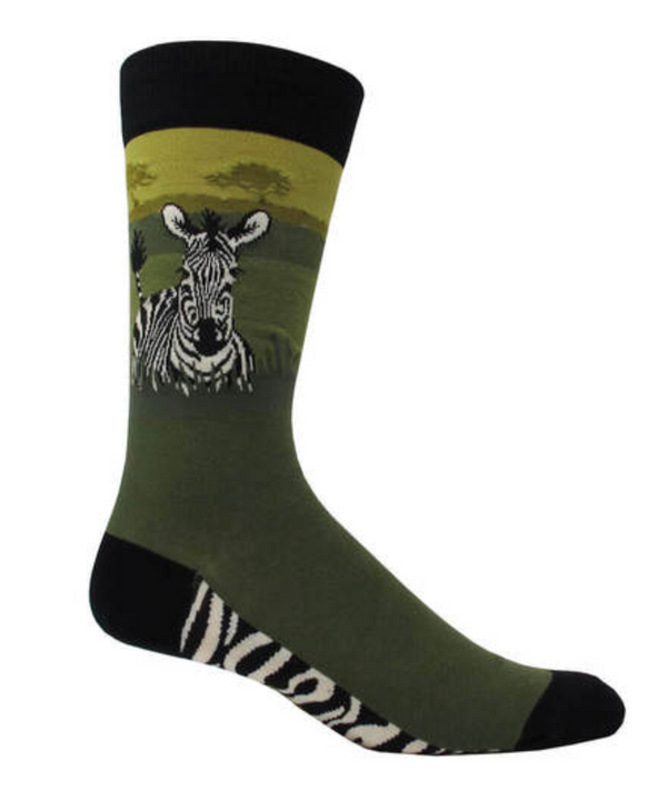 Mens Zebra Socks - Jilly's Socks 'n Such