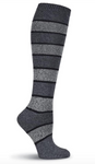 Grey Stripe Knee Highs - Novelty Socks, Mens, Womens, Kids