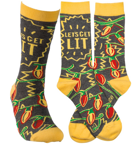 Let's get LIT- Christmas Socks