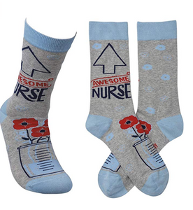 """Awesome Nurse"" Socks - One Size - Novelty Socks, Mens, Womens, Kids"