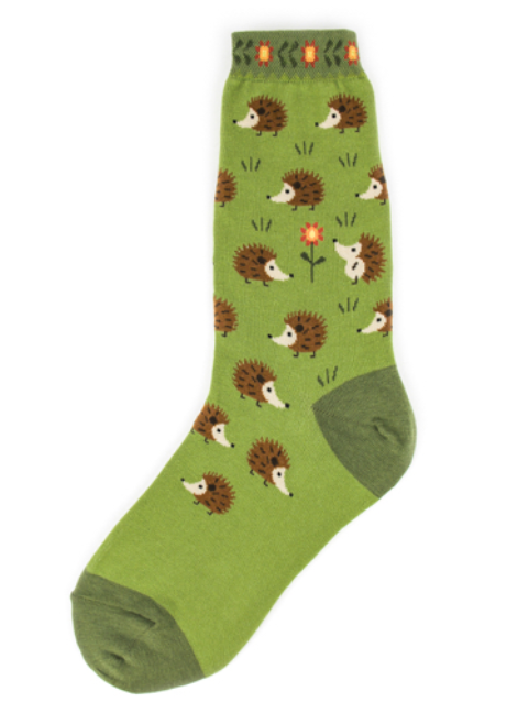 Women's Hedgehog Cutie Socks - Jilly's Socks 'n Such