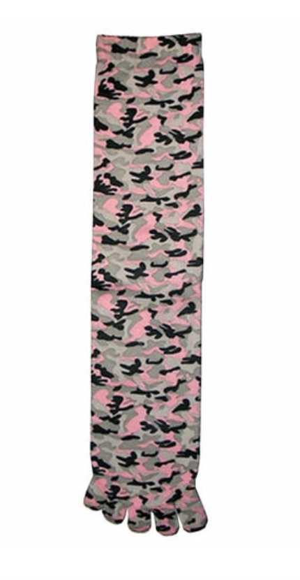 Toe Socks Pink Camouflage - Jilly's Socks 'n Such