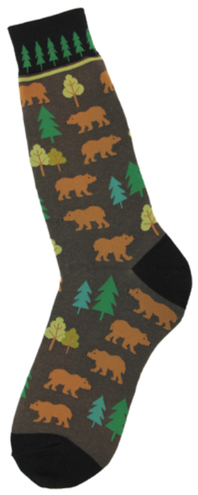 Men's Bear Forrest Socks - Jilly's Socks 'n Such