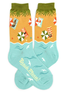 "Women's Foot Traffic ""Beach Please"" Socks"