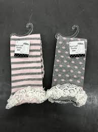 Women's lace cuff socks ( VARIETY) - Jilly's Socks 'n Such