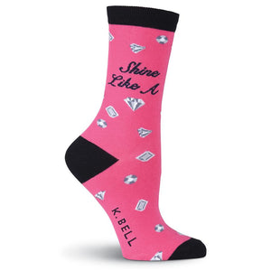 Women's Shine like a Diamond Socks - Novelty Socks, Mens, Womens, Kids