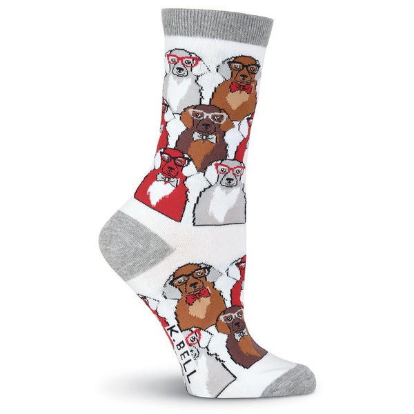 Women's Dogs with Glasses Socks - Jilly's Socks 'n Such